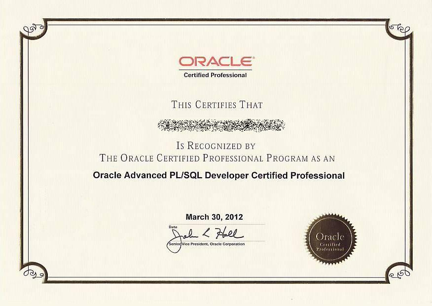OracleAdvancePL_SQLDeveloperCertifiedProfessional_2012